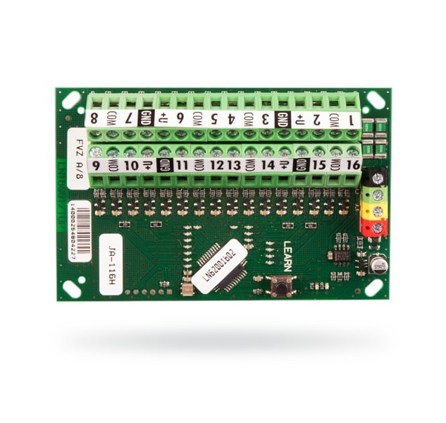 Ekspander 16 wejść dla czujek analogowych